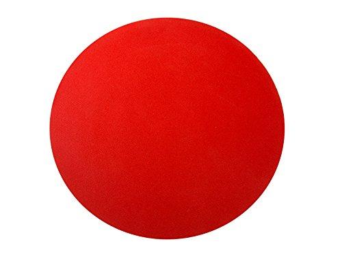 Eventteppich | RUND | Hochzeitsteppich | Tischerunterlage | 3 Größen | 9 Farben (2,00m, Rot)