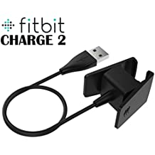 TASLAR USB Charging Cable Cradle Dock Adapter for Fitbit Charge 2 (Black)
