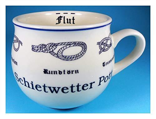 MUG Schietwetter Pott Tasse 9 x 10 cm Ebbe Flut Knoten Becher Kaffeetasse Kaffeebecher Deko GPT 85104 -