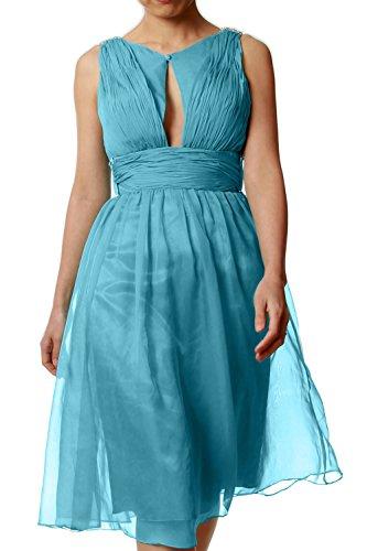 MACloth - Robe - Trapèze - Sans Manche - Femme Bleu - Bleu