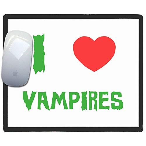 I Love Heart Vampires - Kunststoff-Mauspad