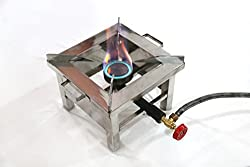 Single Burner 10*10 Square Manual Ignition Canteen Gas Stove/ Bhatti
