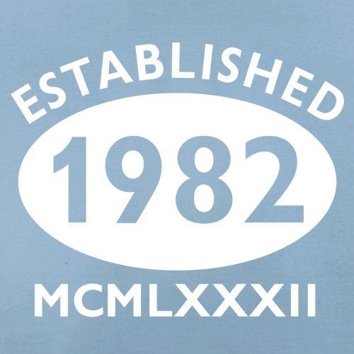 Gegründet 1982 Römische Ziffern - 35 Geburtstag - Herren T-Shirt - 13 Farben Himmelblau