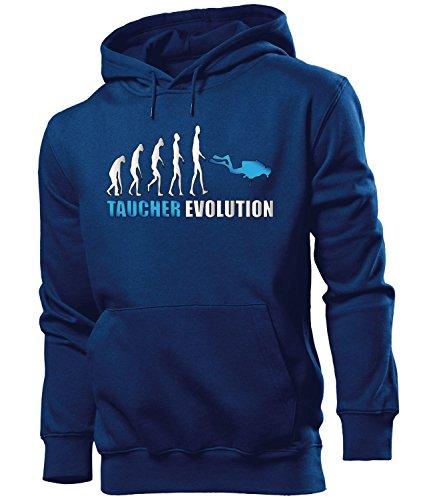 TAUCHER EVOLUTION 631 Herren Hoodie (HKP-N-Weiss-Blau) Gr. S
