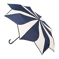 Blooming Brollies Swirl Folding Umbrella - Navy and Cream
