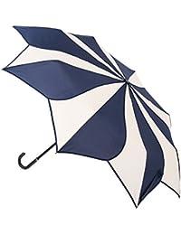 Blooming Brollies Swirl plegable paraguas–azul marino y crema