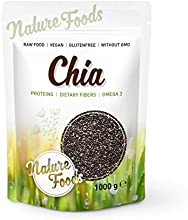 Semillas de Chia de Calidad Premium 1.000g Naturefoods - Granos de Chia de la Planta Salvia hispanica