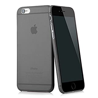"QUADOCTA iPhone 6 (4,7"") Ultra Slim Case - Schutzhülle - ""Tenuis"" in Schwarz - Ultra dünne iPhone Hülle - Leicht transparentes Case (B00NNIJLWO) 