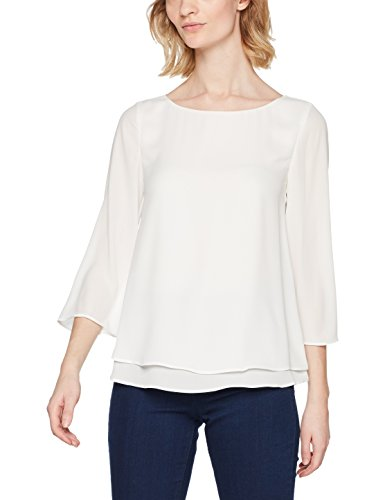 ESPRIT Collection Damen Bluse 998EO1F801, Weiß (Off White 110), 38
