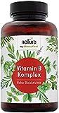 Vitamin B Komplex - 200 Vegane Kapseln - Höchstdosierter Vitamin-B-Kompex - Alle 8 B-Vitamine in bio-aktiven Formen - Höchste Bioverfügbarkeit -...
