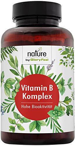 Vitamin B Komplex - 200 Vegane Kapseln - Höchstdosierter Vitamin-B-Kompex - Alle 8 B-Vitamine in bio-aktiven Formen - Höchste Bioverfügbarkeit - Laborgeprüfte Herstellung in Deutschland