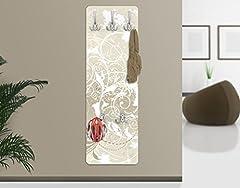 Idea Regalo - WTD 67545 - Attaccapanni design in legno MDF, decorazione madreperla