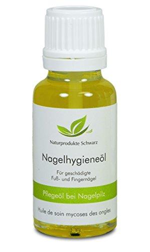 Naturprodukte Schwarz - Nagelpilz Öl - Mit Premium Teebaumöl zur Pflege bei Nagelpilz, 10ml - Ätherische Öle Nägel