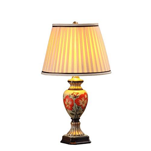 personnalité simple Style peint à la main style américain Rural Table Lamp Chambre à coucher Lampes de style européen Salle de séjour Retro Creative Marry