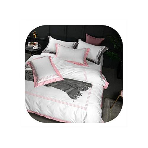 lingmo bed linings Ägyptischer Baumwolle Bettwäsche-Sets Größe Bettbezug, 22, König Einbau 4Pcs - König 3 Stück Bettbezug