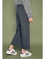 Pantalones de primavera punto de pierna ancha mujeres nueve cintura pantalones los estudiantes coreanos suelto casual jeans rectos ,Código:,Gris