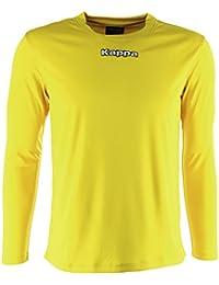 Kappa Carrara LS Camiseta Manga Larga, Hombre, Amarillo, 2XL
