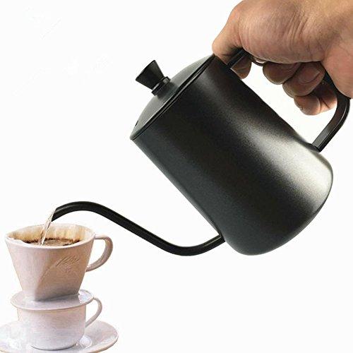 600ml Hochwertiger Edelstahl Hängender Ohr Feiner Mund Feine Kaffeekannen