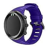 Ansenesna Sportuhr Armband Einstellen Strap Band Silikon Bracelet für Smartwatch Gps Running Runtastic Uhr Suunto Core (Lila)