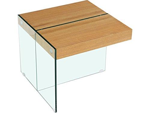 Habitat et Jardin - Table Basse Agrigento - 60 x 60 x 50 cm - Finition chêne
