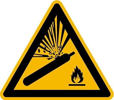 Schild Alu Warnung vor Gasflaschen W029 SL 200mm