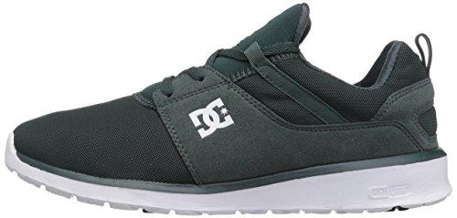 DC Heathrow Skate Shoe, Black/Grey/Green, 14 M US Dark Green