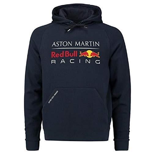 Red Bull Racing Formula 1 Herren Kapuzenpullover F1 Blau Authentic Pull Over Hoody - Rot - Klein -