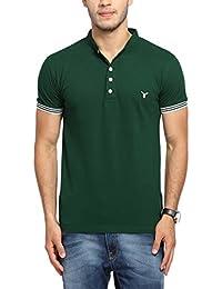 Youthen Solid Men's Cotton Polo Neck T-Shirt