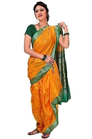 Aasri Poly Cotton Saree (Fhsf-Satinsparkle_Yellow)