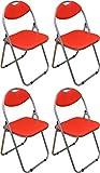 Best Chaises pliantes rouges - Chaise pliante rembourrée - pour le bureau Review