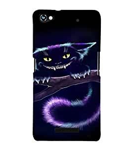 EPICCASE Scary Cat Mobile Back Case Cover For Micromax Canvas Hue 2 A316 (Designer Case)