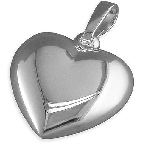 Ciondolo a forma di cuore, in argento Sterling con pendente, con o senza Chain. ideale con pendente a forma di cuore, in stile Tiffany