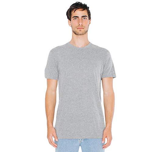 American Apparel - Unisex Tri-Blend Shortsleeve Track T / athletic grey, XL (American Apparel-track Shirt)