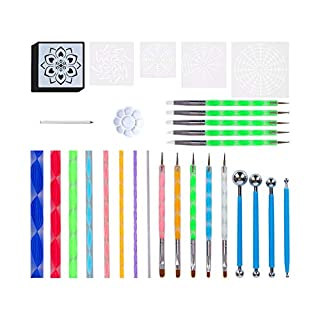Mandala Dotting Tools for Painting Rocks Mandala Painting Dotting Stencil Dot Mandala Kit 34PCS