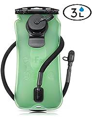 gofriend® 3litres 3L (Genware) extérieur Sac de Système Sac à dos Eau vessie d'hydratation Réservoir d'eau, sans BPA et approuvé par la FDA, idéal pour le vélo, randonnée, Course à pied, le camping, marche