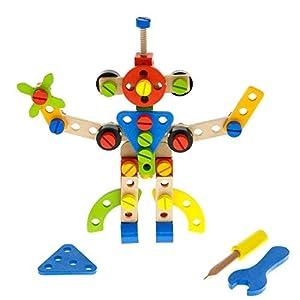 Tooky Toys TKF013 - Juego de construcción de Madera, 78 Piezas, Multicolor