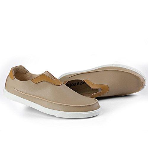 ... Homme Confort Sans Loafers on Microfibre Plat Slip Bateau Passant Chaussure  Lacet Mode Beige Basket Mocassin ... 9a2c5ffb943f