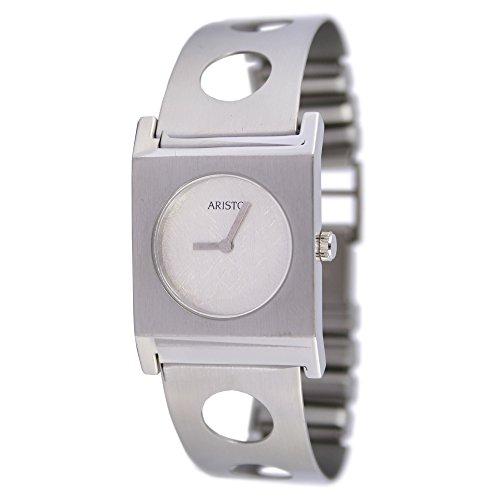 Aristo quarzo Dau per orologio da donna con bracciale acciaio inox 7d64–3
