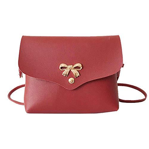 Clearance Damen-Handtasche Jjliker mit Schleife, einfarbig, einfach