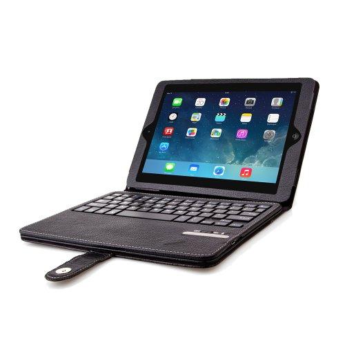LuvTab® iPad Air (iPad 5-2013) Cover Case, Mit Aufsteller Funktion, Mit Bluetooth Keyboard - Schwarz