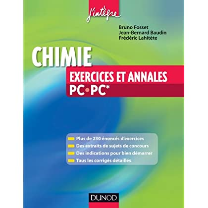 Chimie - Exercices et annales PC-PC* (Concours Ecoles d'ingénieurs)