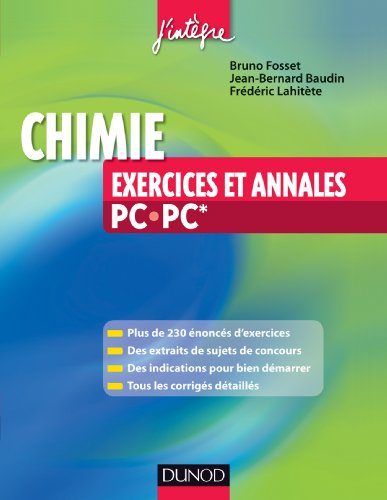 Chimie - Exercices et annales PC-PC*