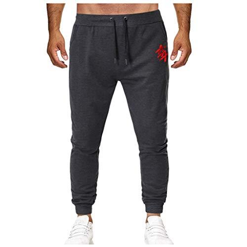 Dwevkeful Herrenhose Brief Drucken Tunnelzughose Trousers Pants Hosen Freizeithose Trainingshose Trekkinghose Jogginghose Bermuda Lose Outdoor Basic