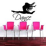 xingbuxin Artista Ragazza Ballerino Dancing Silhouette Arte Wall Sticker Home Girls Camera da Letto Parete Decorazioni Speciali Adesivi murali in Vinile Murale 1 42x54cm