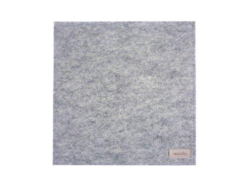 Preisvergleich Produktbild manufra Untersetzer / Mauspad 100 % Schurwollfilz (60301050) Filz hellgrau-meliert
