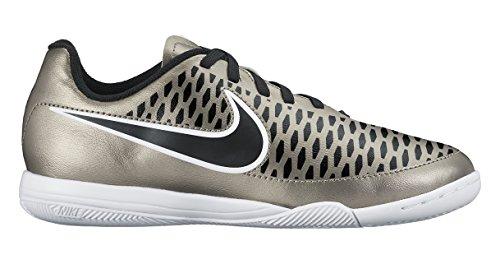 Nike  Jr Magista Onda Ic, Chaussures de sport fille Dorado / Noir / Verde / Blanco (Mtlc Pewter / Blk-Ghst Grn-White)
