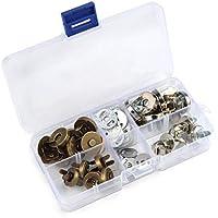 timesetl 14/18mm cierre magnético 20pcs Plata/Oro magnético bolsa cierres cierres de botón con caja de plástico