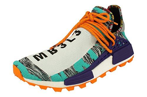 adidas Pharrell Williams Solar HU NMD Herren Trainers Sneakers (UK 10 US 10.5 EU 44 2/3, Aqua core Black Purple BB9528)