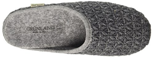 GRÜNLAND Ci0249, Pantofole Aperte sulla Caviglia Donna Grigio