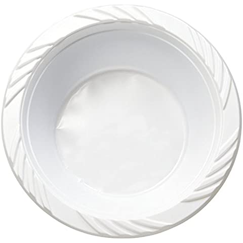 Homenetics White Disposable Plastic Bowls, 12 oz, 250 count by Homenetics